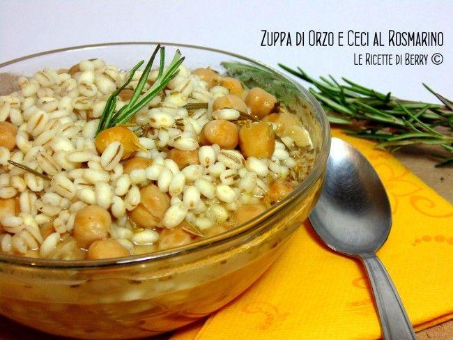 Zuppa di Orzo e Ceci al Rosmarino