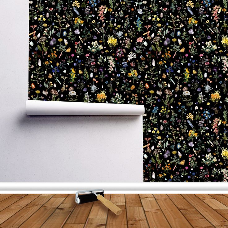 Make a room extra special, the HEALING print is now available on wallpaper! #Fifikoussout #Spoonflower #Wallpaper