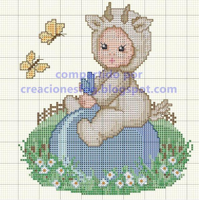 creaciones FOG: gráfico bebé disfrazado punto de cruz
