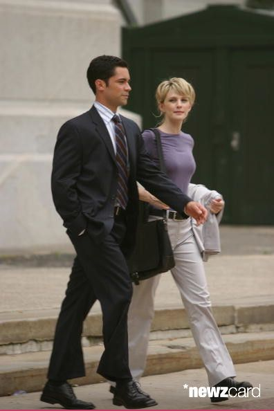 Full shot of Kathryn Morris as Lilly and Danny Pino as Scott. (Photo by Eric Liebowitz/Warner Bros./Getty Images)