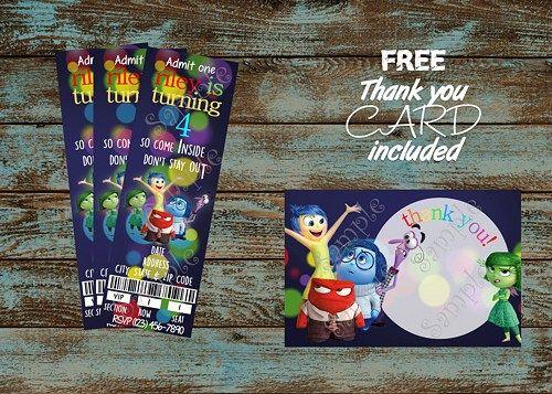 Disney Inside Out Birthday Party Invitations 10 handpicked ideas – Invitation Card Design Birthday Party