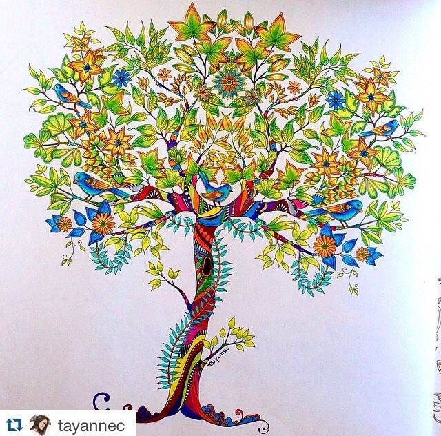 130 Best Images About Coloring Trees On Pinterest