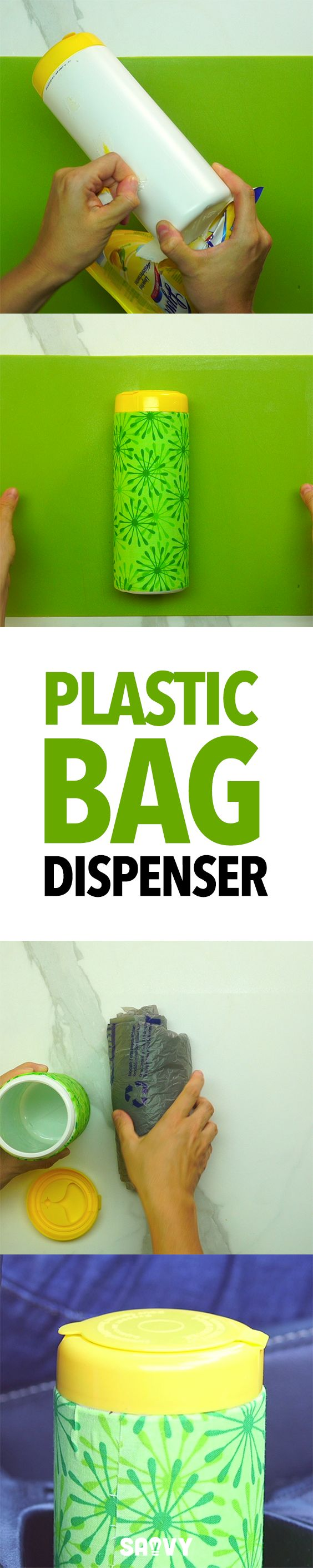 DIY Plastic Bag Dispenser                                                                                                                                                                                 More