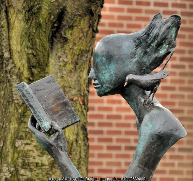 Library sculpture, Belfast (C) Albert Bridge :: Geograph Ireland