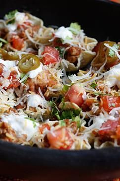 Skinny Loaded Nachos with Turkey, Beans and Cheese | Recipe