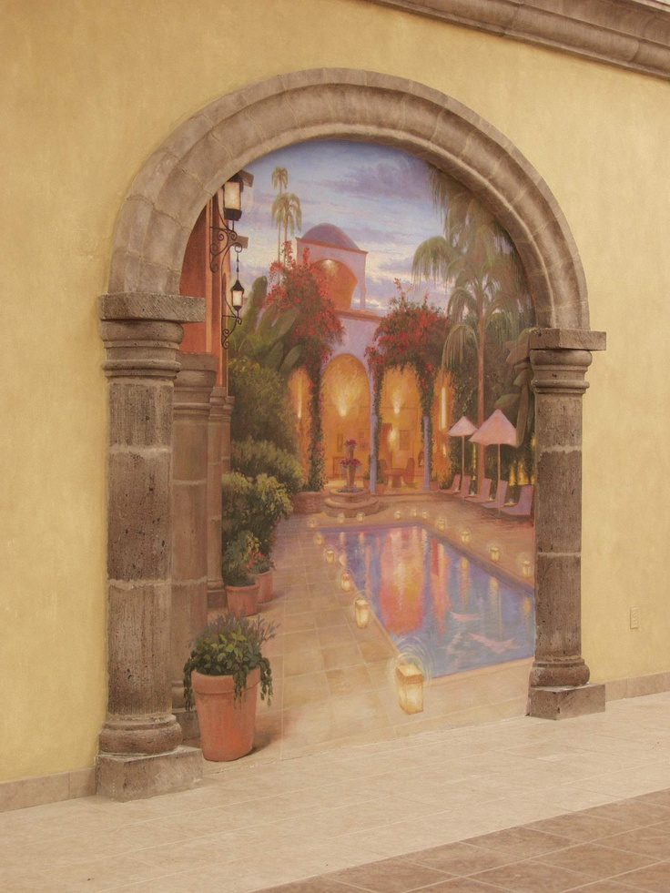 trompe l oeil murals good ideas pinterest
