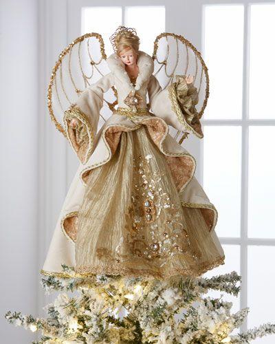 H8CG8 Christopher Radko Gilded Angel Heirloom Statue