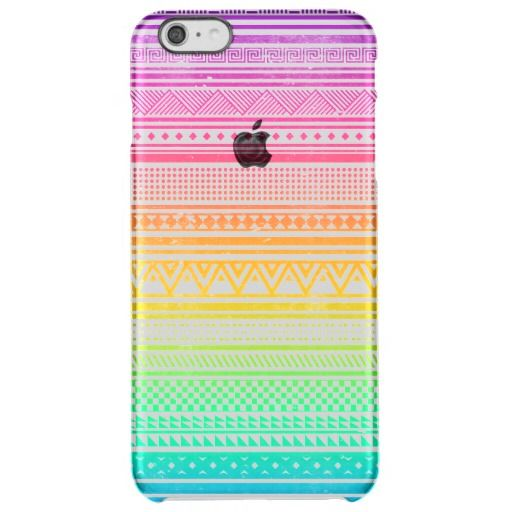 neon aztec tribal pattern transparent iPhone 6 plus cases at http://www.zazzle.com/neon_aztec_pattern_iphone_case-256848491960193800?rf=238395237176455059