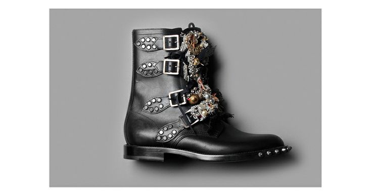 Les bottes punk de Saint Laurent par Hedi Slimane