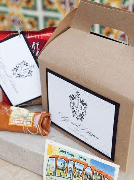 Unique Wedding Gifts Canada: Elegant Hotel Welcome Gift- Personalized For And Arizona