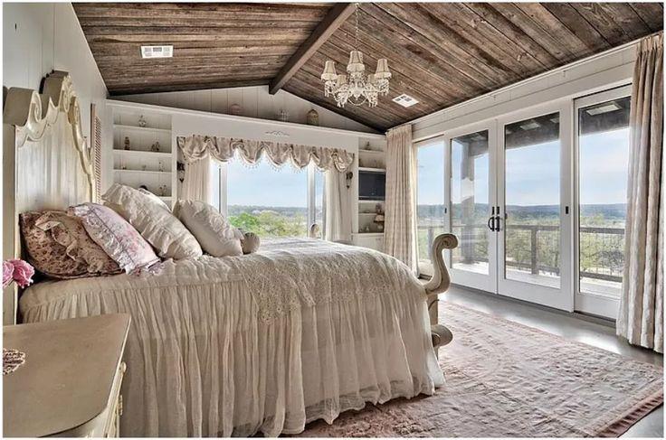 Современный интерьер спальни в стиле кантри