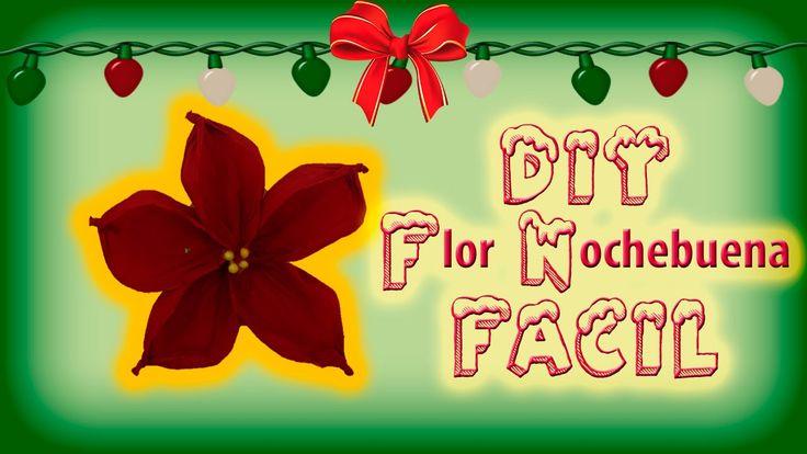 DIY | ¿Como hacer una Flor de Noche buena? | Fácil