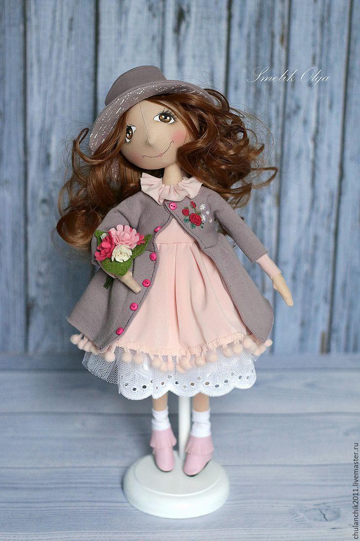 Купить Бывшая балерина - сиреневый, розовый, текстильная кукла, учительнице, балерина, авторская игрушка, тыквоголовка