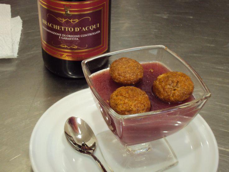 Brachetto wine jelly : simply delicious !