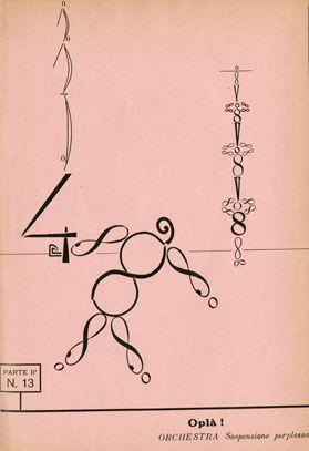 """Francesco Cangiullo. Caffé-concerto: Alfabeto a sorpresa [Café-Concert: Unexpected Alphabet]. Milan: Edizioni futuriste di """"Poesia,"""" 1919"""