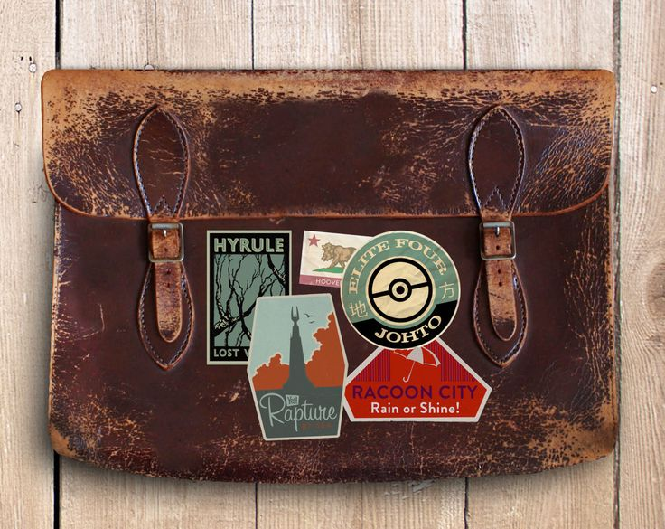 Brilliant gaming luggage labels