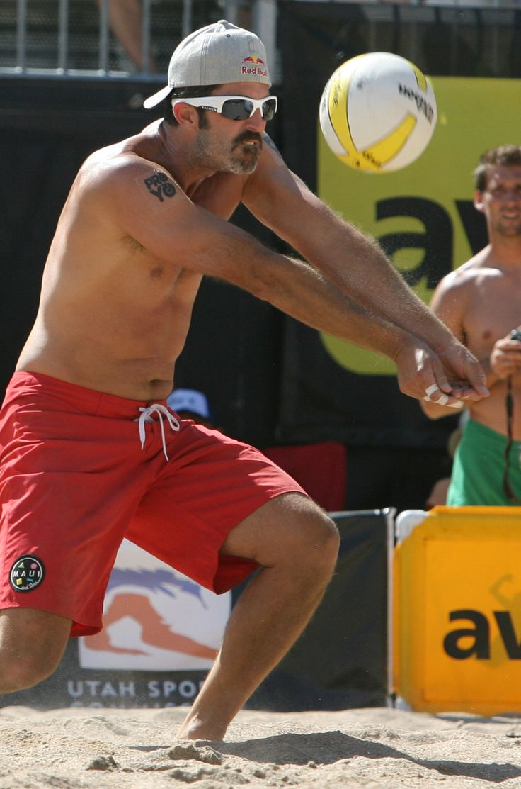 (Rick Egan  | The Salt Lake Tribune)   Todd Rogers hits the ball, in the men's finals of the AVP Volleyball tournament at Liberty Park, Sunday, August 18, 2013.