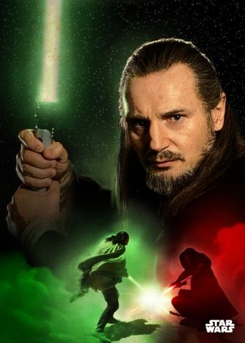 Star Wars Qui Gon Jinn metal poster - PosterPlate posters made out of metal