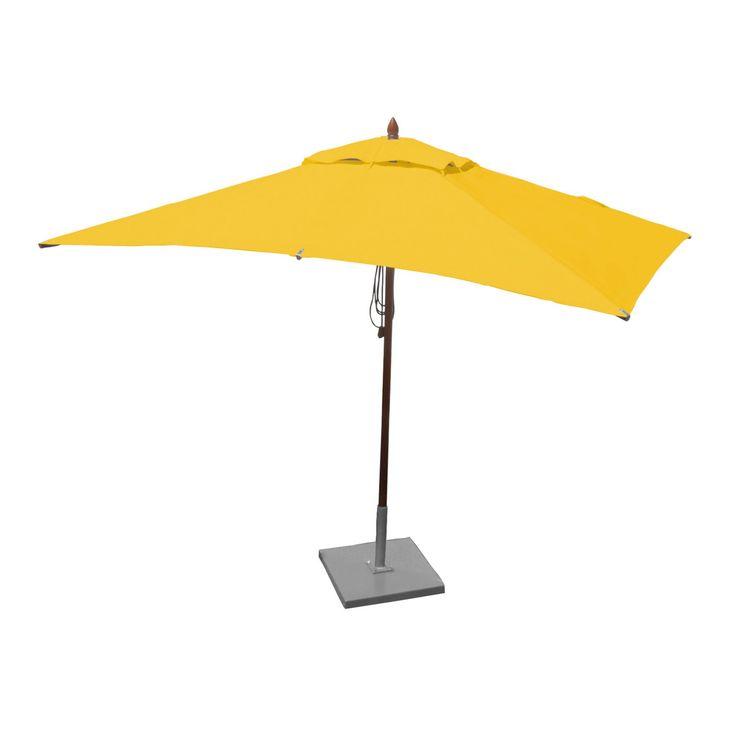 Greencorner 10 x 6.5 ft. African Mahogany Rectangular Patio Umbrella - RC1065QS2038