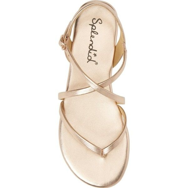 Women's Splendid Brett Strappy Flat Sandal (230 BRL) ❤ liked on Polyvore featuring shoes, sandals, splendid shoes, splendid sandals, flat shoes, flat t-strap sandals and strappy sandals