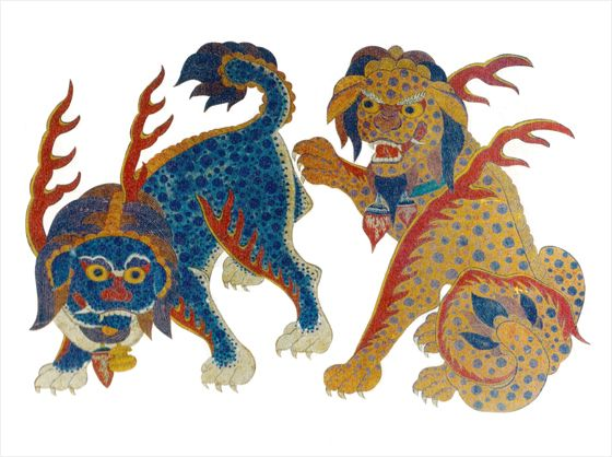 Haechi, an imaginary animal in Korean myth