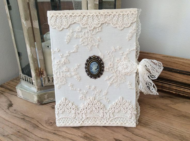 Vintage lace journal, Victorian notebook, Lace diary, Vintage stationery, Lace memory book, Wedding guest book, Victorian wedding by EnchantedLaceDecor on Etsy