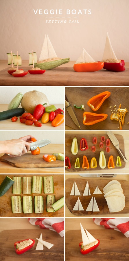 DIY Tutorial: Veggie Boats, Nautical Part Food – Concept + Photos + Styling by A…