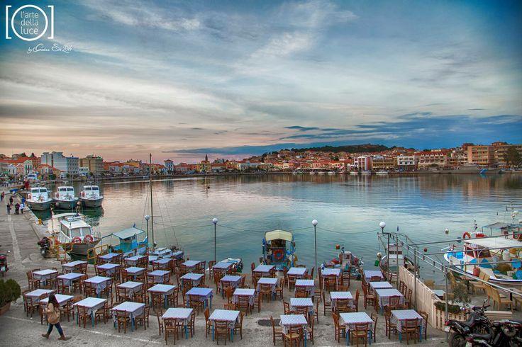 GREECE CHANNEL | Best souvlakia in #Mitilini in the foreground! http://www.greece-channel.com/