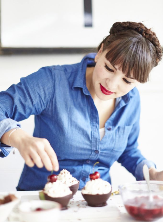 Recipe: Black forest gâteau bowls - Rachel Khoo