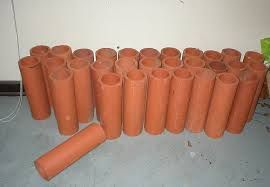 Image result for making clay drainage pipes