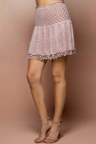 Pearl Cleopatra Crochet Skirt - Vanessa Montoro US - vanessamontorolojausa