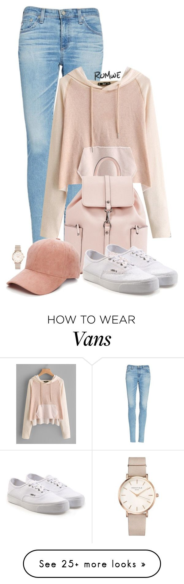 """Sporty look"" by tamaralovepolyvore on Polyvore featuring AG Adriano Goldschmied, Collection XIIX, Vans and ROSEFIELD"