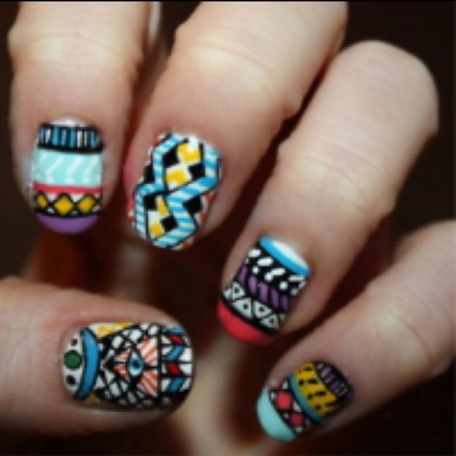 100 best native american nails images on pinterest american tribal nails prinsesfo Image collections