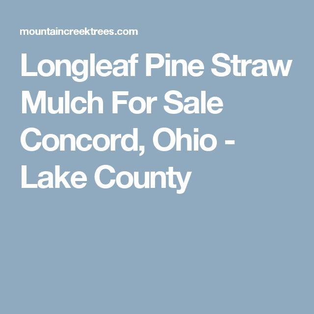 Longleaf Pine Straw Mulch For Sale Concord, Ohio - Lake County