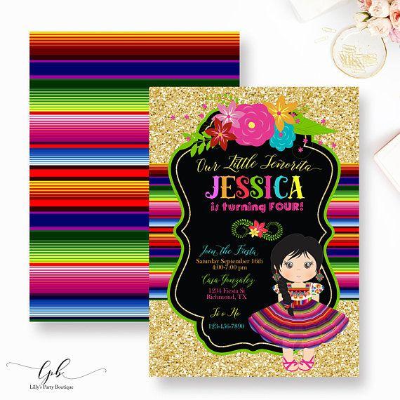 fiesta mexican birthday mexican party fiesta mexican invitation