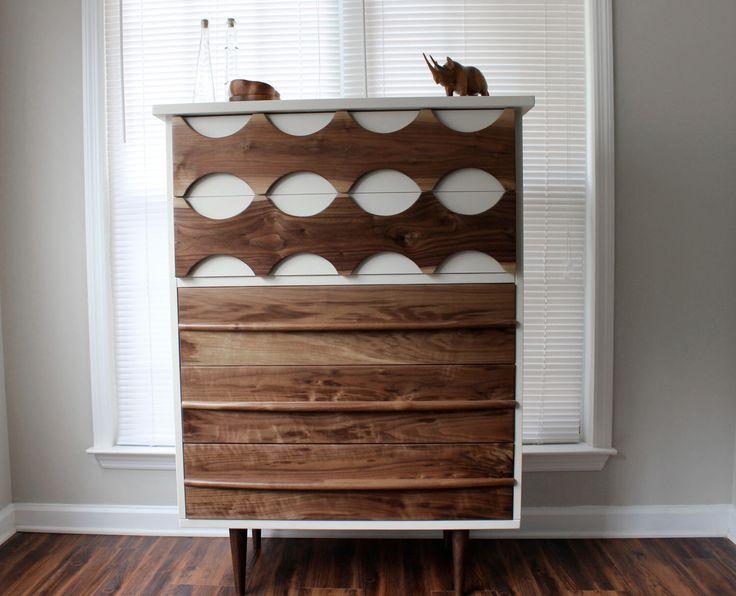 Mid-Century Inspired Ellipse Walnut Dresser by Revitalized Artistry by RevitalizedArtistry on Etsy https://www.etsy.com/listing/165317349/mid-century-inspired-ellipse-walnut