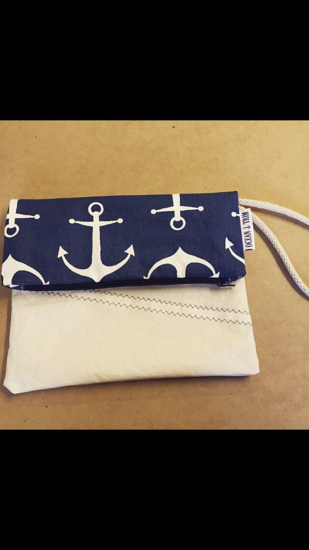 Cute sailcloth clutch