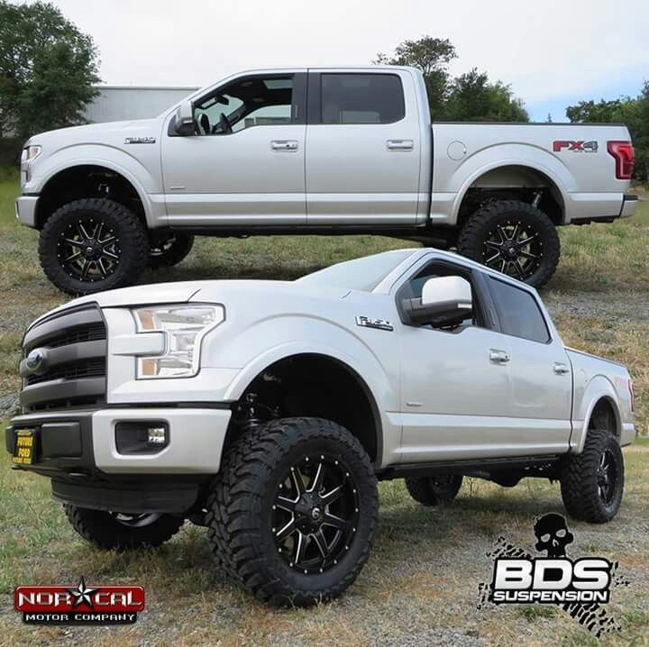 Lifted 2015 F150 >> 2015 Ford F 150 Lifted White 406 5 2006 F 150 Ford Xlt 4dr