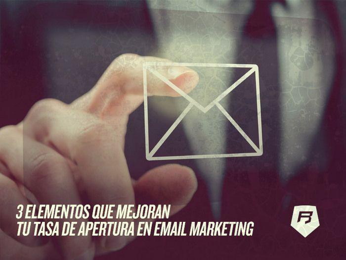 #emailmarketing #emailing #mail #marketing MEJORA TU TASA DE APERTURA! Te damos 3 elementos para lograrlo Click aquí >>> http://emailmarketing-rebeldesonline.com/campanas-de-email/