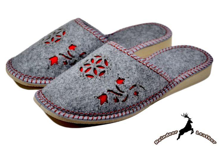 Antheia Felt Grey Classic Slippers