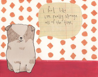 I Feel Strange All Of The Time Art Print by Marjorie Katie Coleman