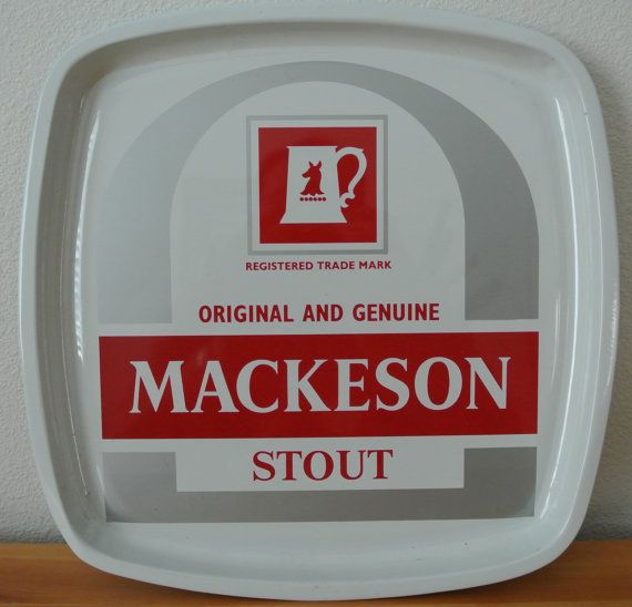 Vintage Mackeson Stout Metal Serving Tray. by DomesticTitanVintage