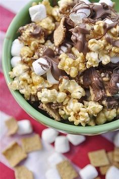 s'mores caramel popcorn. movie night?