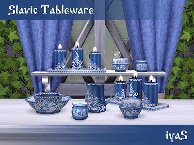 The Sims 4 Mody: Naczynia stołowe i świece od Soloriya