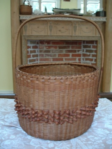 Vintage antique indian basket coyote