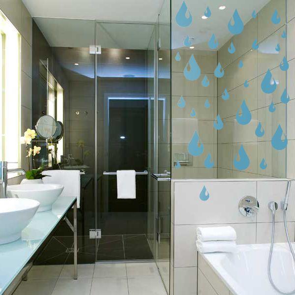 Купить наклейки для ванной комнаты - Набор Капли в интернет-магазине Декоретто с…