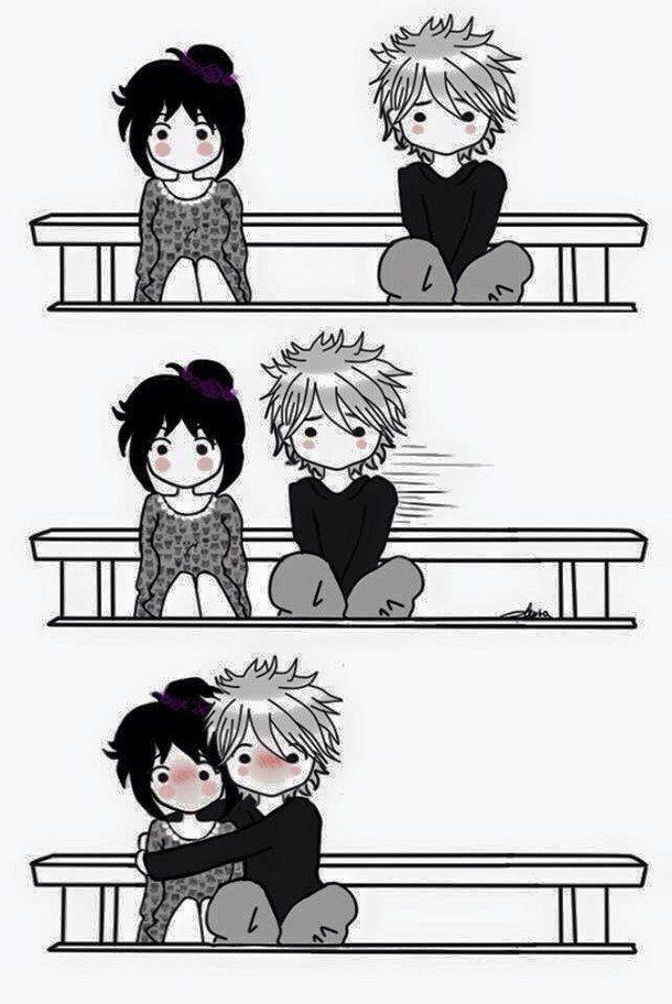 black and white, draw, love, manga, manga love, anime ...