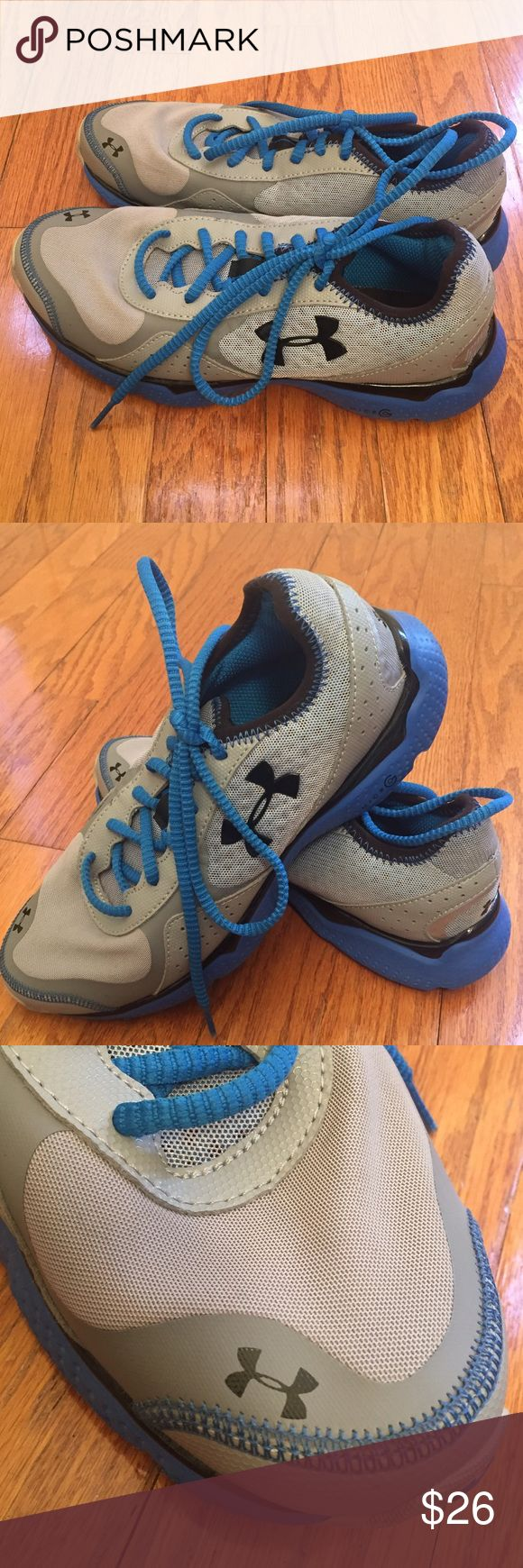 Under Armour Micro G sneakers Youth Boys Under Armour Micro G running sneakers.  Boys size 5.5.  Lightweight, breathable, and supportive.  Like new condition, Worn once.  Stay-tied laces. Under Armour Shoes Sneakers