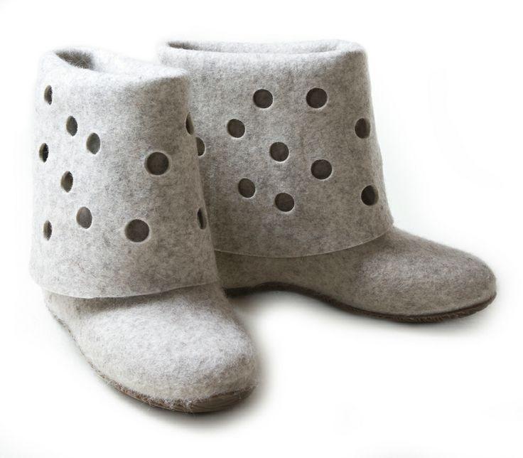 Aki Choklat for Lahtiset, felt boots, ACFL-62, http://www.lahtiset.fi/fi/mallisto/aki-choklat-for-lahtiset.html #akichoklat #lahtiset #felt #boots