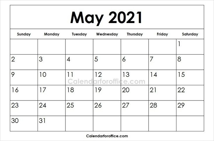 Printable 2021 May Calendar Images Download May 2021 Templates Calendar For Office February Calendar April Calendar Printable August Calendar